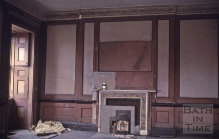 No.1 Royal Crescent: interior: dining room before builders initial exploratory 1969