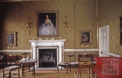 No.1 Royal Crescent: interior: drawing room as first arranged 1972