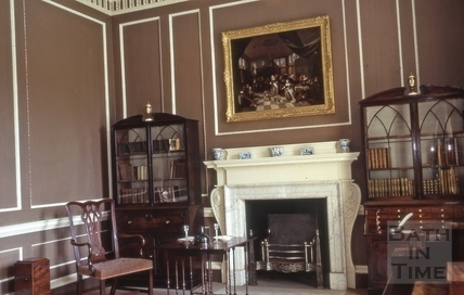 No.1 Royal Crescent: interior: library as first arranged 1972
