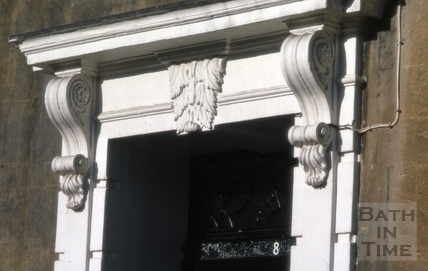 Somerset Place doorcase with consoles and mask keystone 1969