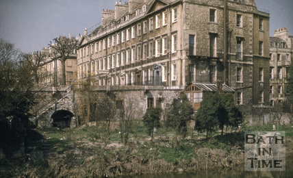 South Parade east end from Ferry Lane 1955