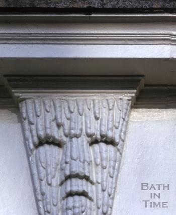Somerset Place iceman keystone above door 1963