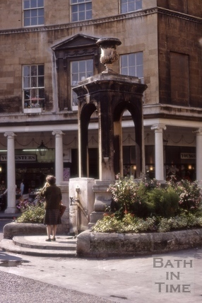 Stall Street mineral water fountain 1971