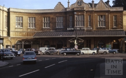 Bath Spa Station from Manvers Street 1965