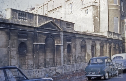 Sydney Place wall bordering back gardens 1969