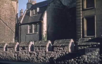 Upper Borough Walls battlements on city wall 1955