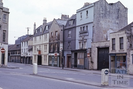 Upper Bristol Road Monmouth Place from west 1975