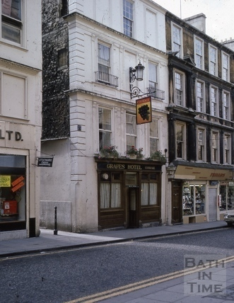 Westgate Street south side. The Grapes cleaned 1969