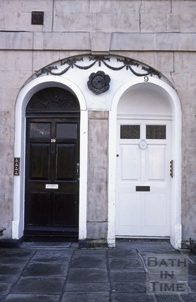 Widcombe Crescent No 9-10 paired doors 1979