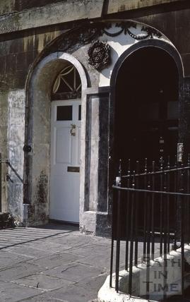 Widcombe Crescent paired doors 1973