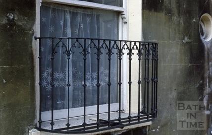 Widcombe Crescent Gothick balconette 1973