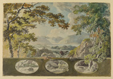Decorative landscape - study for a room at Norbury Park