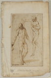 Study of two male figures for the 'Baptism of Christ'