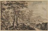 Landscape with trees (recto)