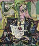 Portrait of Professor Anthony Blunt reading