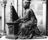 Cathedral of St Julien;Statue of Saint Cecilia