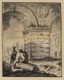 Figures among ruins