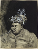 Bust portrait of an Oriental man