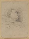 Head of a sleeping child