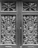 Cast iron door grille