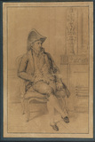 Portrait of a man, seated - M. Mouron (?)