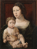 Virgin and Child - Anne de Berges and her son (?)