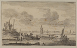 Dutch estuary or flood scene