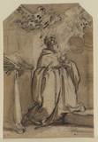 Saint in adoration