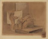 Peintre et modele