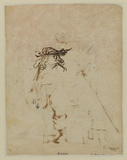 Study of a seated actor (verso)