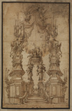 Design for a catafalque for Pope Clement XI