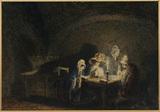 Interior - three women in candlelight