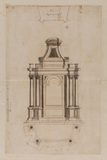 Plans and elevations for an altar