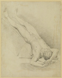 Male nude lying on his back