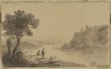 River landscape (verso)