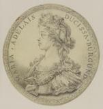 Medallion portrait of Marie Adelaide, Duchesse de Bourgogne