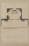 Ground plan of chancel and transepts of San Salvatore in Lauro, Rome