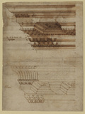 Study of two entablatures (recto)