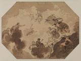 Study for ceiling decoration - allegory