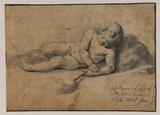 Recumbant nude child - infant Saint John the Baptist (?)