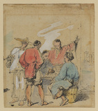 Group of five Chinamen