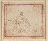 Young lady seated at a table