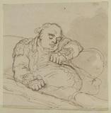 Man asleep in an arm-chair
