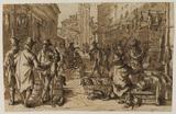 Poultry market in an imaginary Venetian setting