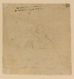 Rough sketch of a male figure (verso)