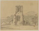 Little Malvern church, Worcestershire (study for painting in the collection of Colonel M.H.Grant)