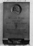 St Paul's Cathedral;The Crypt;Memorial to William Blake