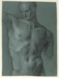 Study of male nude (verso)