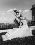 Le Penseur, on the grave of Rodin