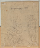 Woman visiting a sorceress (verso)